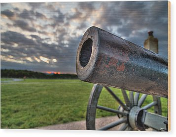 Gettysburg Canon Closeup Wood Print by Andres Leon