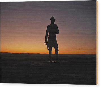 Wood Print featuring the photograph Gettysburg Sunset by Ed Sweeney