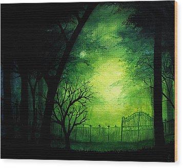 Ghastly Gate Wood Print by Erin Scott