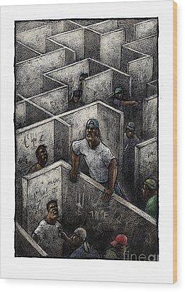 Ghetto Wood Print by Chris Van Es
