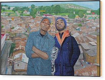 Ghetto Voice Wood Print by Daniel Kisekka