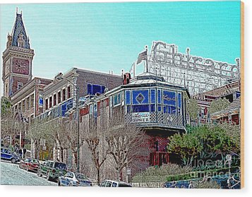 Ghirardelli Chocolate Factory San Francisco California 7d14093 Artwork Wood Print by Wingsdomain Art and Photography
