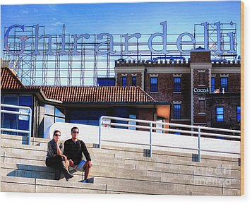 Wood Print featuring the photograph Ghirardelli Square by Andreas Thust