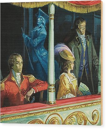 Ghost At The Theatre Wood Print by Andrew Howat