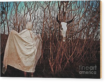 Ghost Attack Wood Print by Gregory Dyer