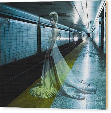 Ghost Bride Wood Print by Diane Diederich