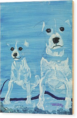 Ghost Dogs Wood Print by Terry Lewey