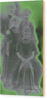 Ghost Family Portrait Wood Print by First Star Art