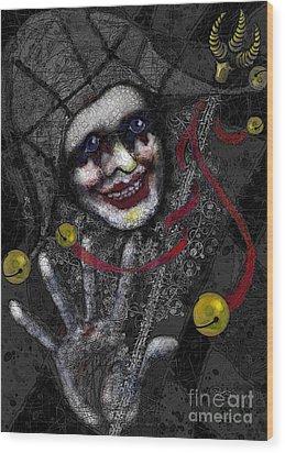 Ghost Harlequin Wood Print by Carol Jacobs