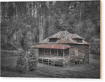 Ghost In The Window Wood Print by Debra and Dave Vanderlaan