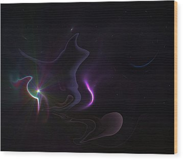 Ghost Nebula Wood Print by Ricky Haug