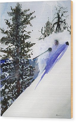 Wood Print featuring the painting Ghost Of Tahoe Past by Ed  Heaton