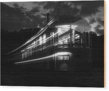 Wood Print featuring the photograph Ghost Of Trolleys Past II by Jim Poulos