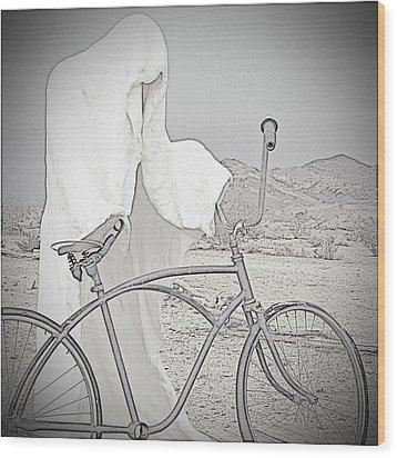 Ghost Rider Sketch Wood Print by Marcia Socolik