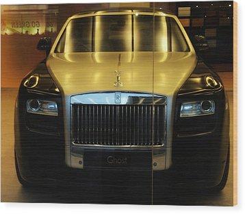 Wood Print featuring the photograph Rolls Royce Ghost by Salman Ravish