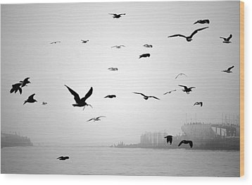 Wood Print featuring the photograph Ghost Ship by AJ  Schibig