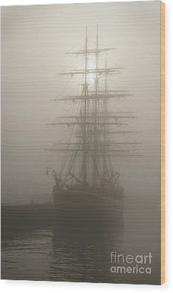 Ghost Ship Wood Print by Inge Riis McDonald