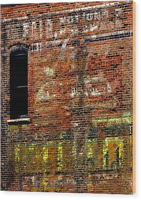Ghost Sign 13469 3 Wood Print by Jerry Sodorff