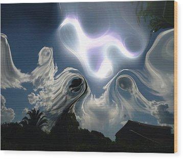 Ghost Sky Wood Print by Beto Machado