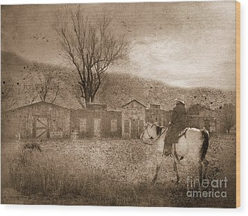 Ghost Town #2 Wood Print by Betty LaRue