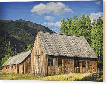 Wood Print featuring the photograph Ghost Town Barn And Stable by Lincoln Rogers