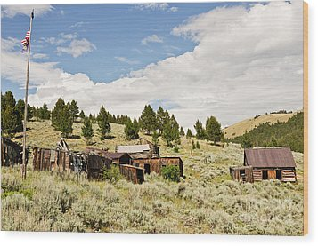 Wood Print featuring the photograph Ghost Town In Summer by Sue Smith
