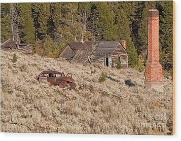 Ghost Town Remains Wood Print by Sue Smith