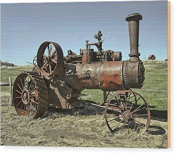 Ghost Town Steam Tractor Wood Print by Daniel Hagerman