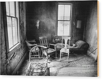 Ghost Town Still Life I Wood Print by George Oze
