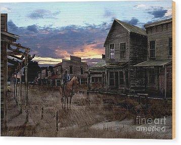 Ghost Town  Wood Print by Tom Straub
