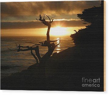 Ghost Tree At Sunset Wood Print