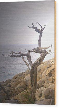 Ghost Tree Detail Wood Print by Barbara Snyder