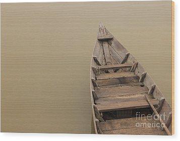 Ghostly Boat Wood Print by David Warrington
