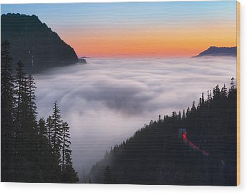 Ghosts Of Nisqually Wood Print