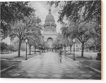 Ghosts Of The Texas State Capitol - Austin Texas Skyline Wood Print