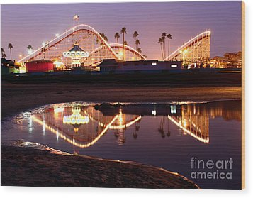 Wood Print featuring the photograph Giant Dipper At Dusk by Theresa Ramos-DuVon