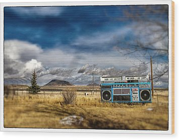 Giant Idaho Radio Tilt Shift Wood Print by For Ninety One Days