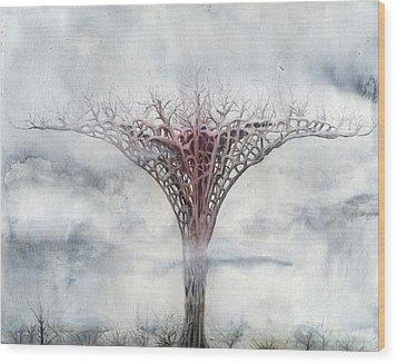 Giant Plant Wood Print by Bjorn Eek