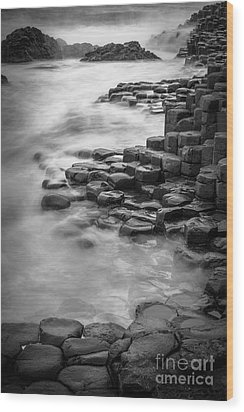 Giant's Causeway Waves  Wood Print by Inge Johnsson