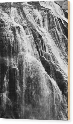Gibbon Falls Wood Print by Bill Gallagher