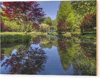 Gibbs Garden Wood Print by Debra and Dave Vanderlaan