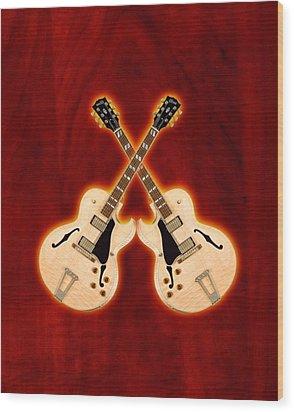Gibson-es-175 Wood Print by Doron Mafdoos