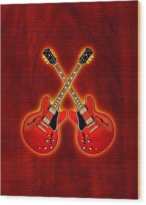 Gibson Es 335 Wood Print by Doron Mafdoos