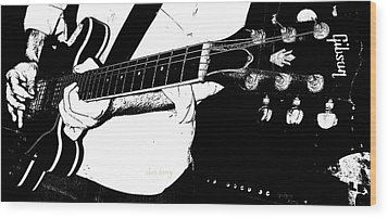 Gibson Guitar Graphic Wood Print by Chris Berry