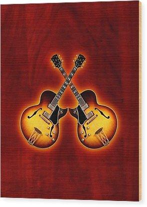Gibson Jazz Wood Print by Doron Mafdoos