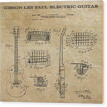 Gibson Les Paul Guitar Patent Art 1955 Digital Art By