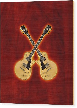 Gibson Randy Rhoads Les Paul Custom Wood Print by Doron Mafdoos