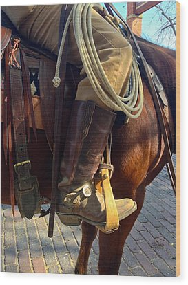 Wood Print featuring the photograph Giddyup by Dee Dee  Whittle