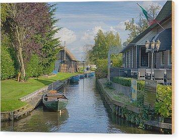 Giethoorn Wood Print