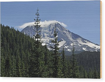 Gifford Pinchot National Forest And Mt. Adams Wood Print by Tikvah's Hope